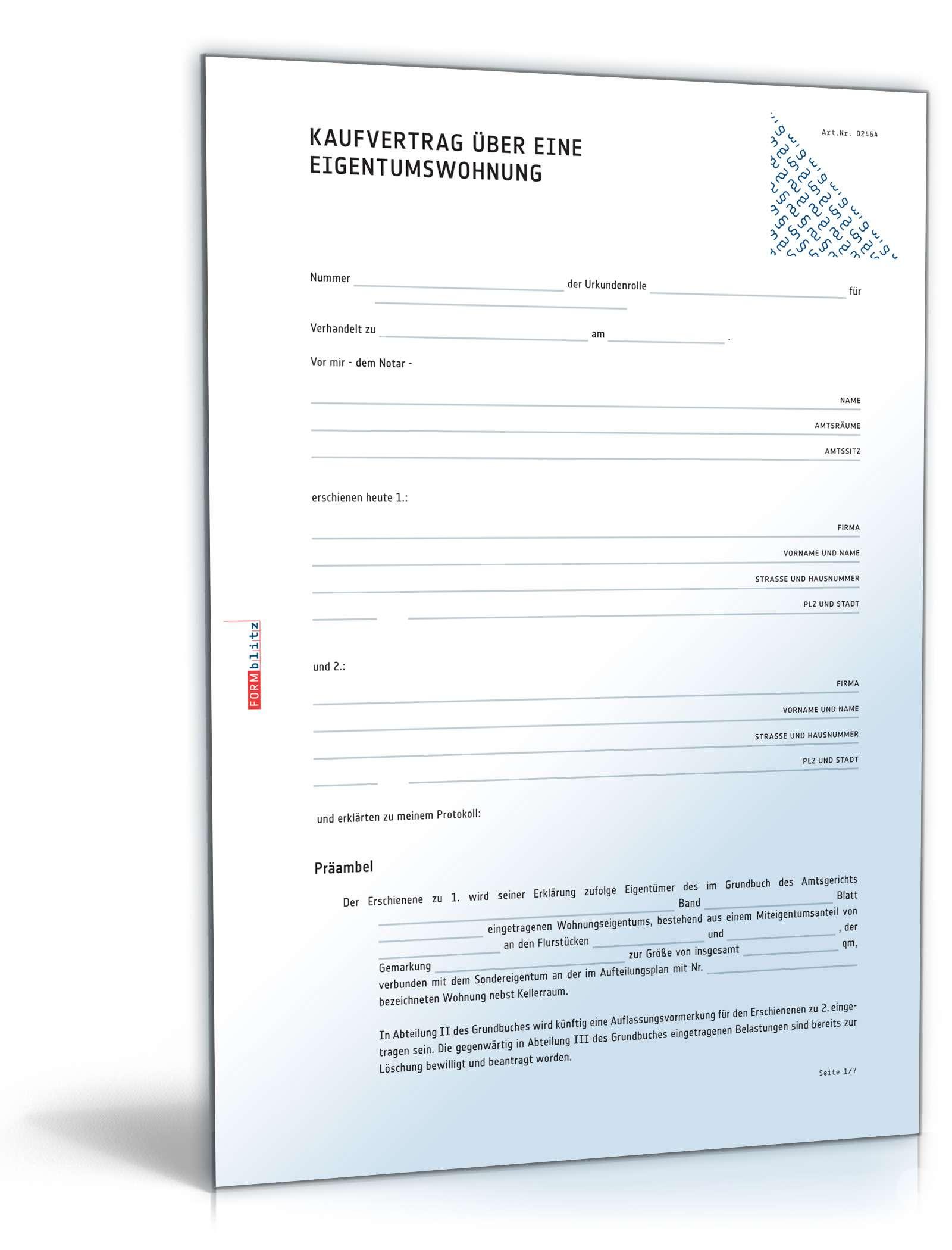 Kaufvertrag Eigentumswohnung